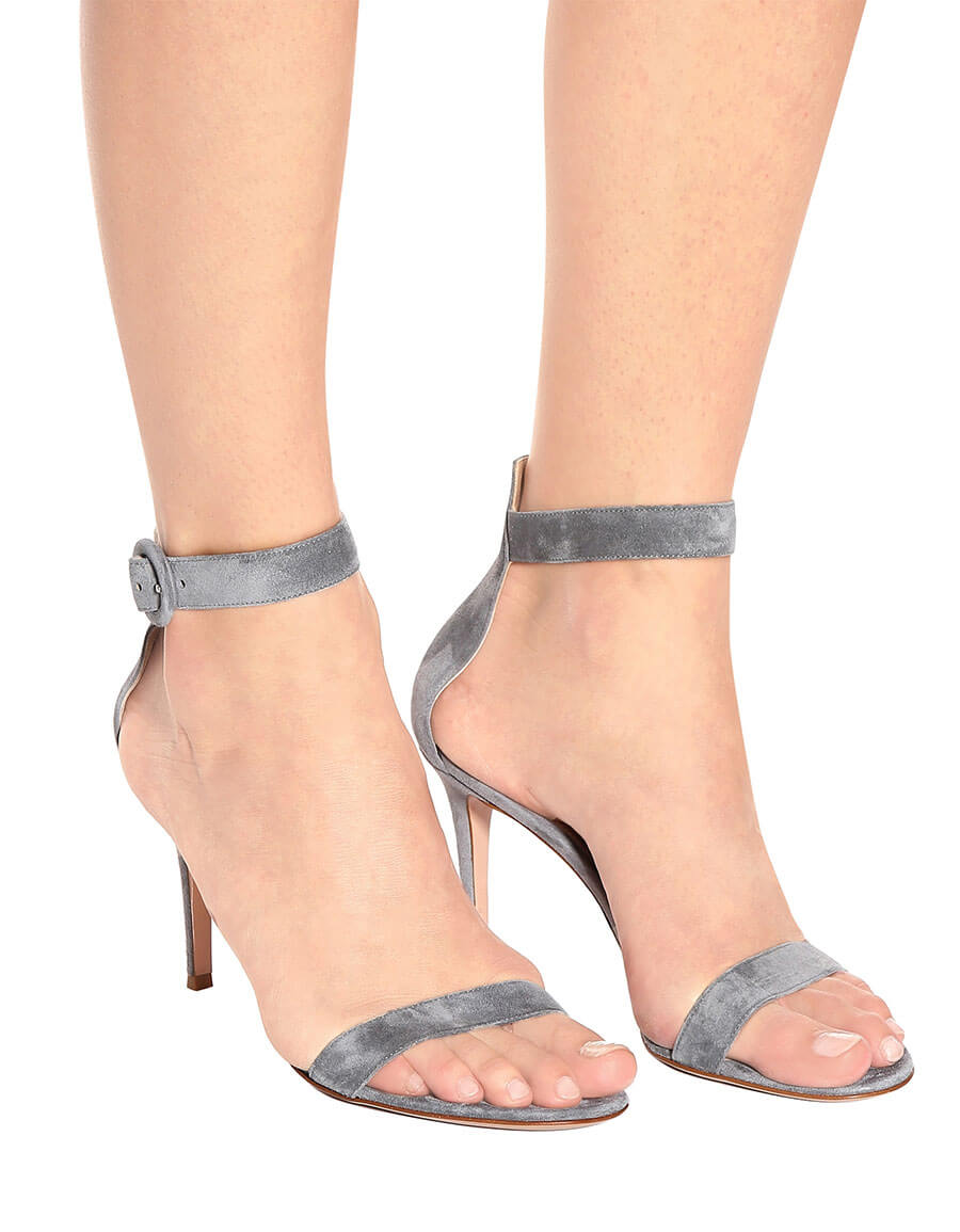 GIANVITO ROSSI Portofino 85 suede sandals