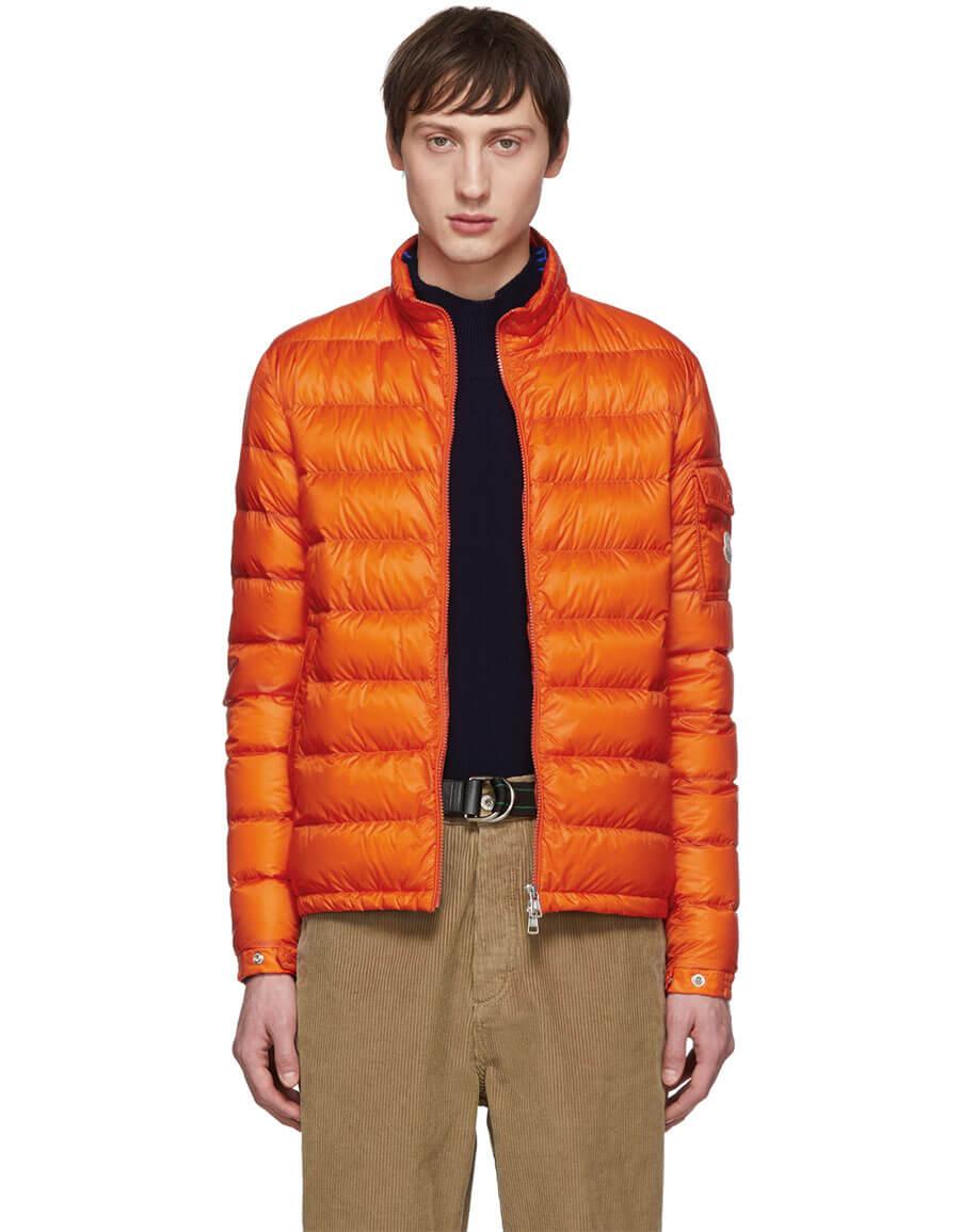 MONCLER Orange Down Lambot Jacket