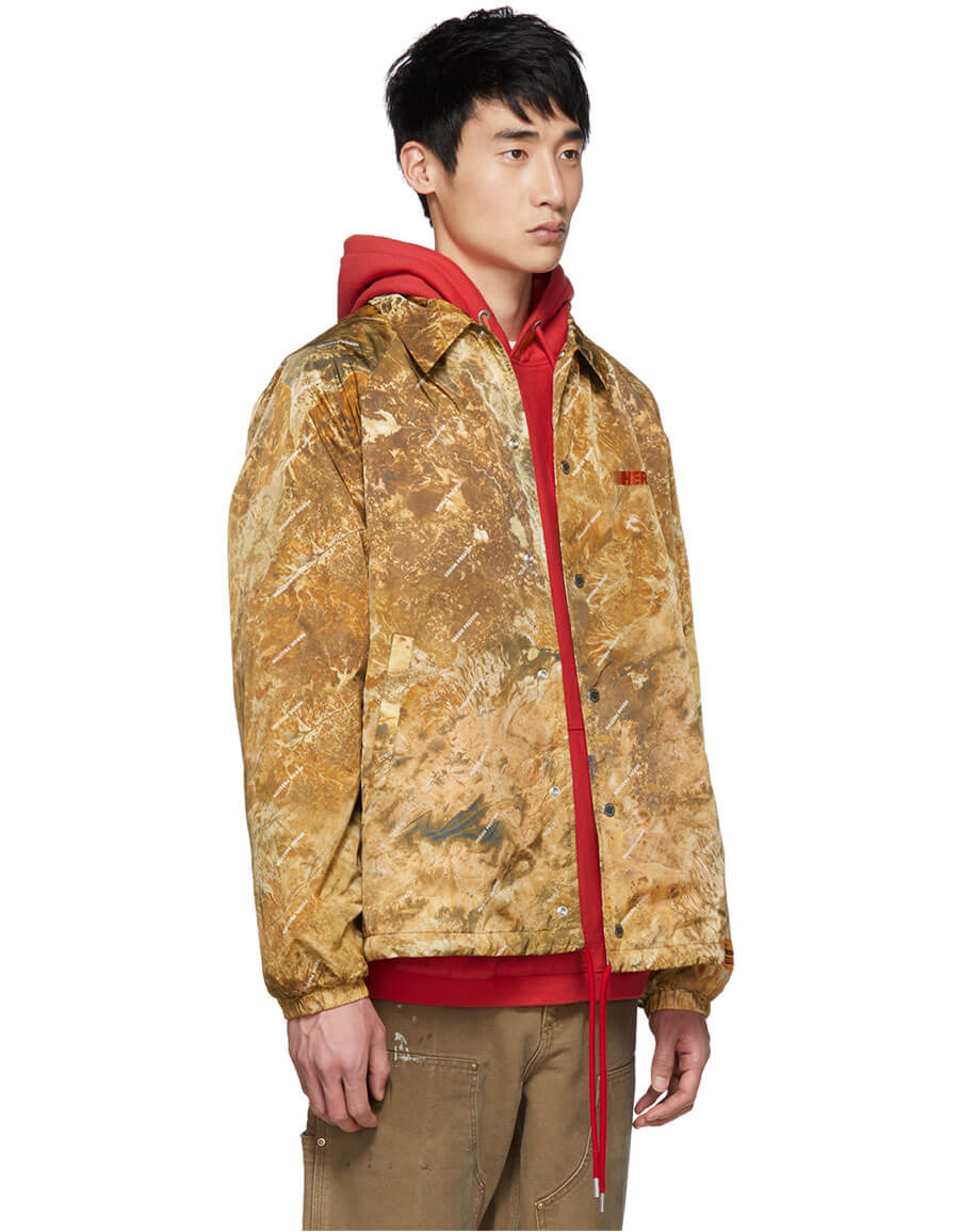 HERON PRESTON Brown Camo Basic Coach Jacket
