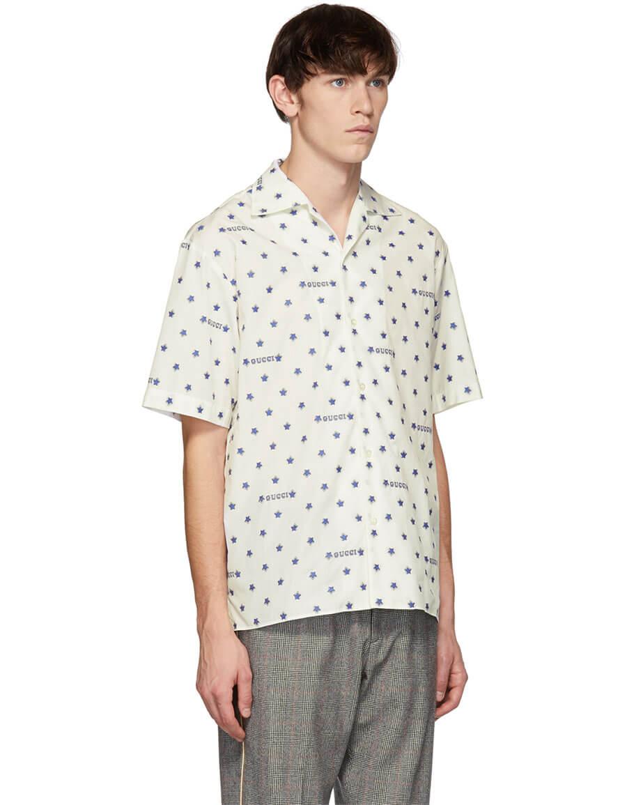GUCCI White Stars Shirt