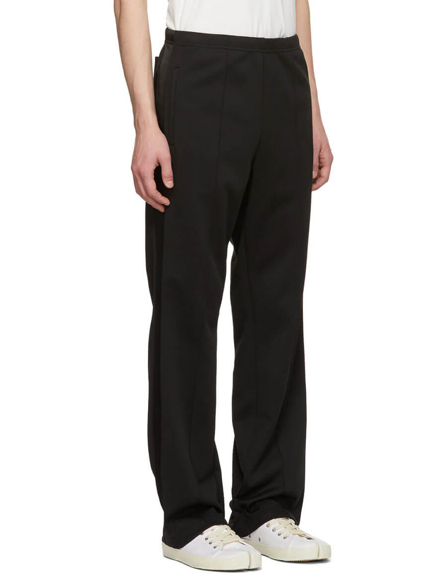 MAISON MARGIELA Black Side Band Track Pants