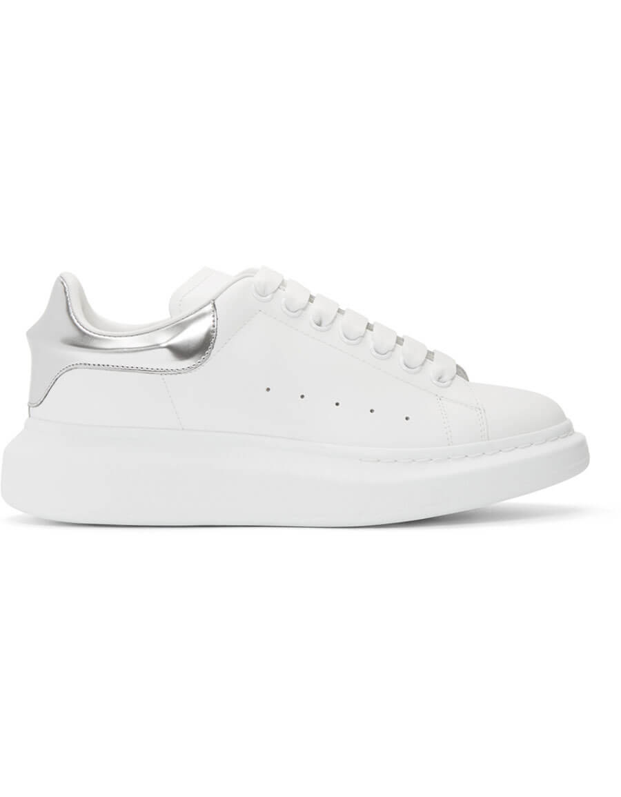 Silver · Sneakers Whiteamp; Oversized Vergle Mcqueen Alexander xChstrQd