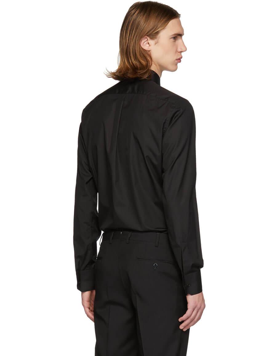 DOLCE & GABBANA Black Crown Martini Fit Shirt