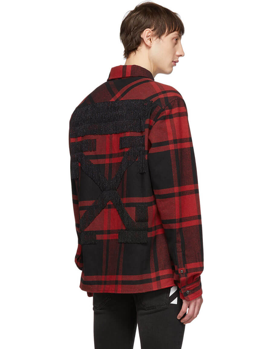 OFF WHITE Red & Black Luxury Checked Shirt