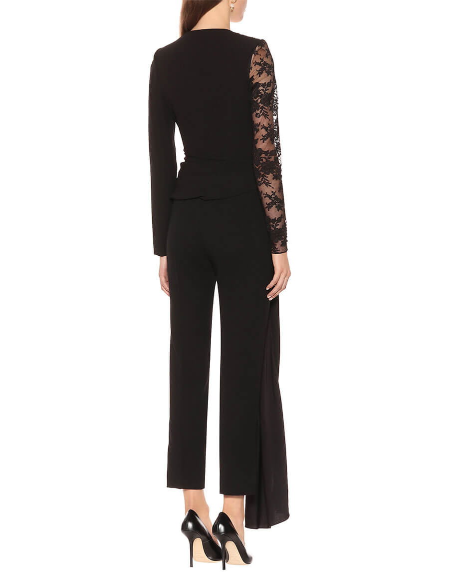 GIVENCHY Lace and cotton blend jumpsuit