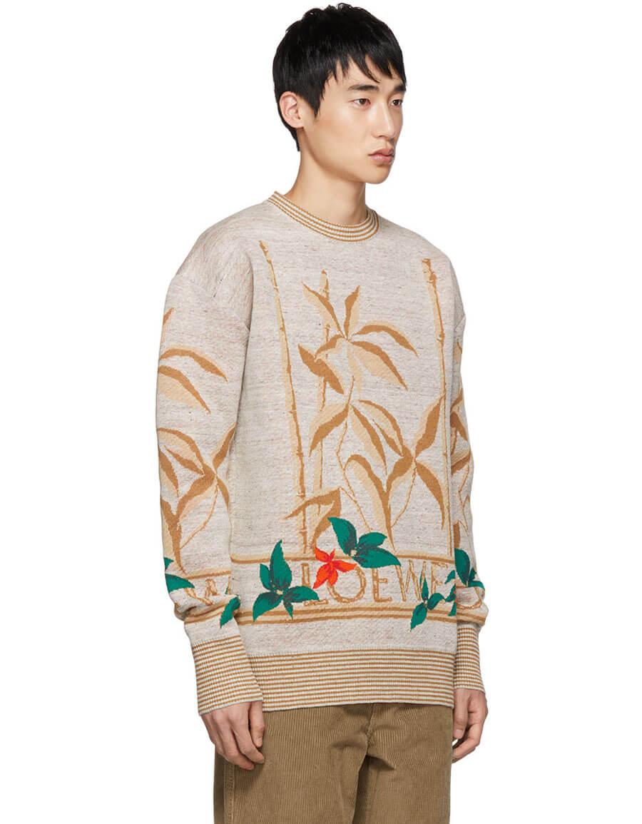 LOEWE Grey Flowers Sweater