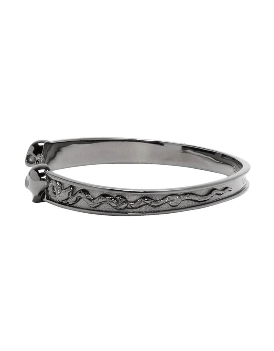 ALEXANDER MCQUEEN Silver Twin Skull Bracelet
