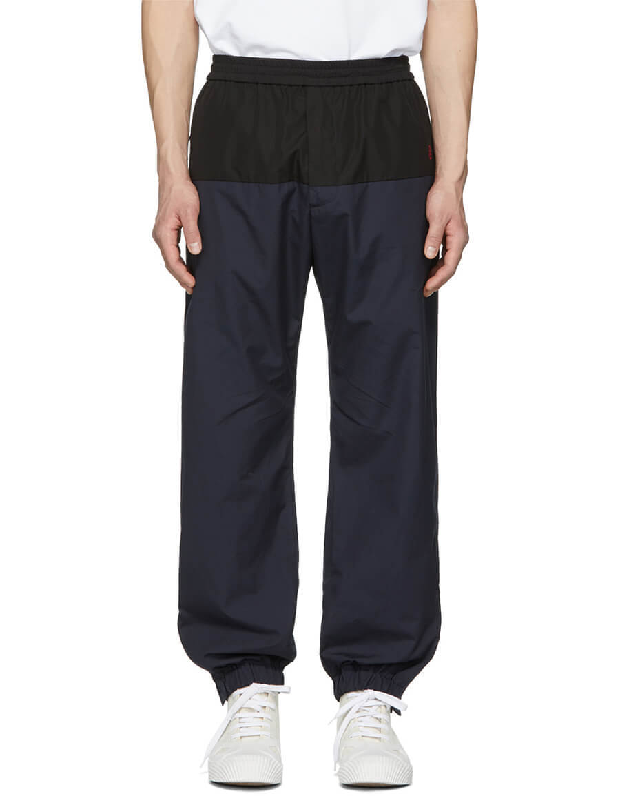 STELLA MCCARTNEY Navy & Black Cotton Track Pants