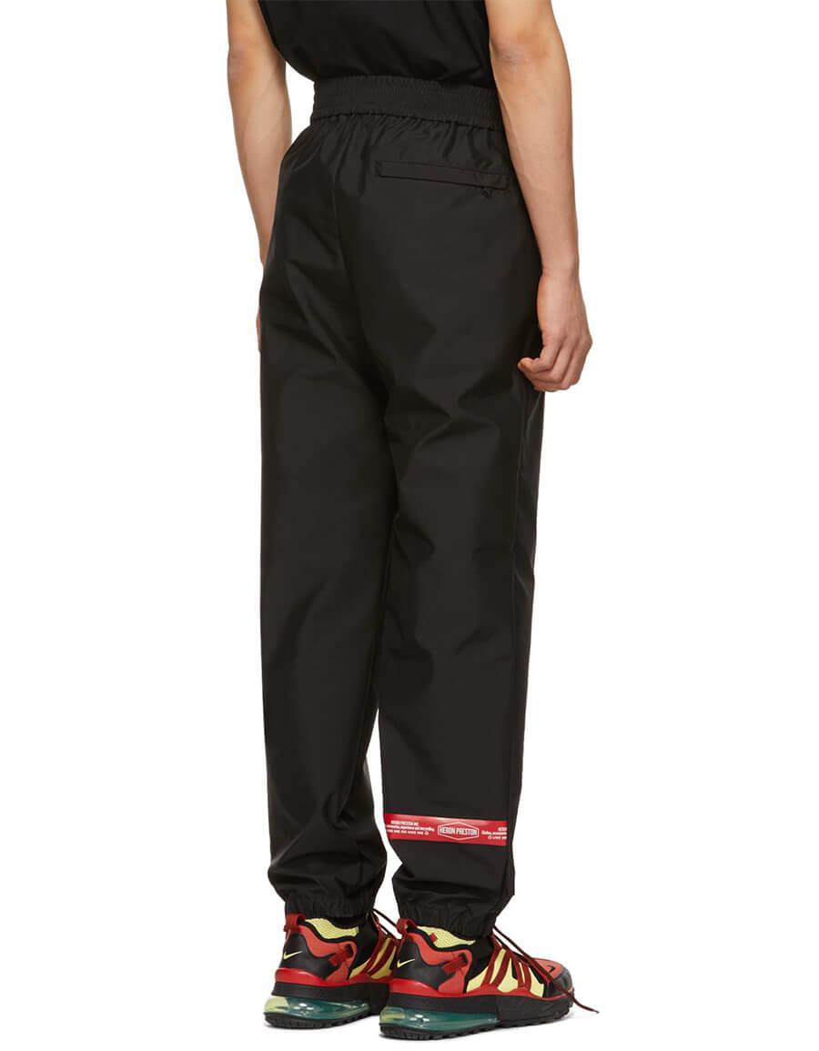 HERON PRESTON Black & Red Satin Lounge Pants
