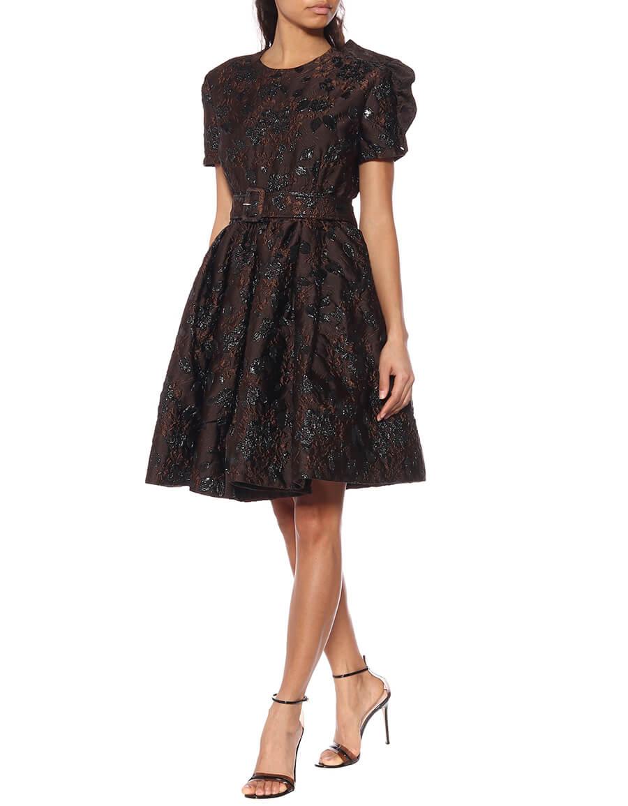 PRADA Floral cloqué dress