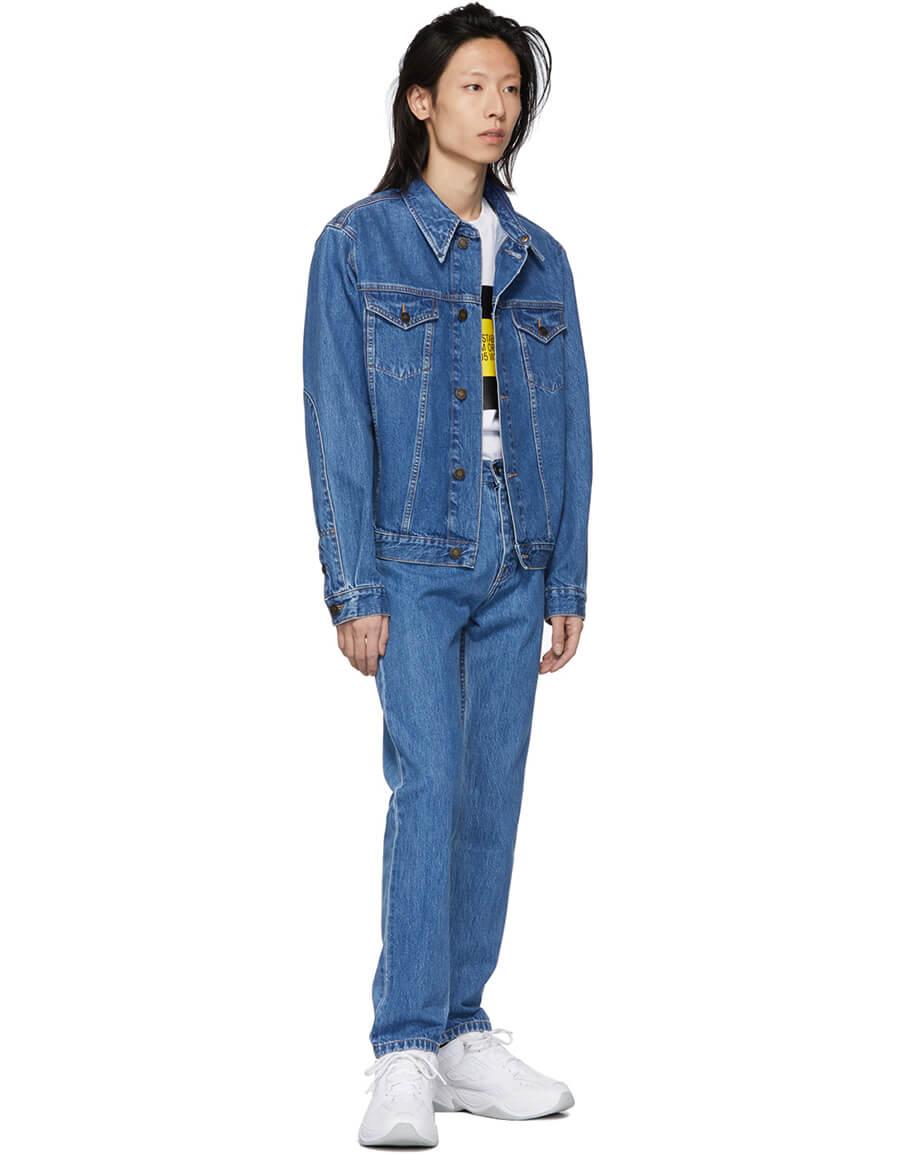 CALVIN KLEIN Blue Denim Trucker Jacket