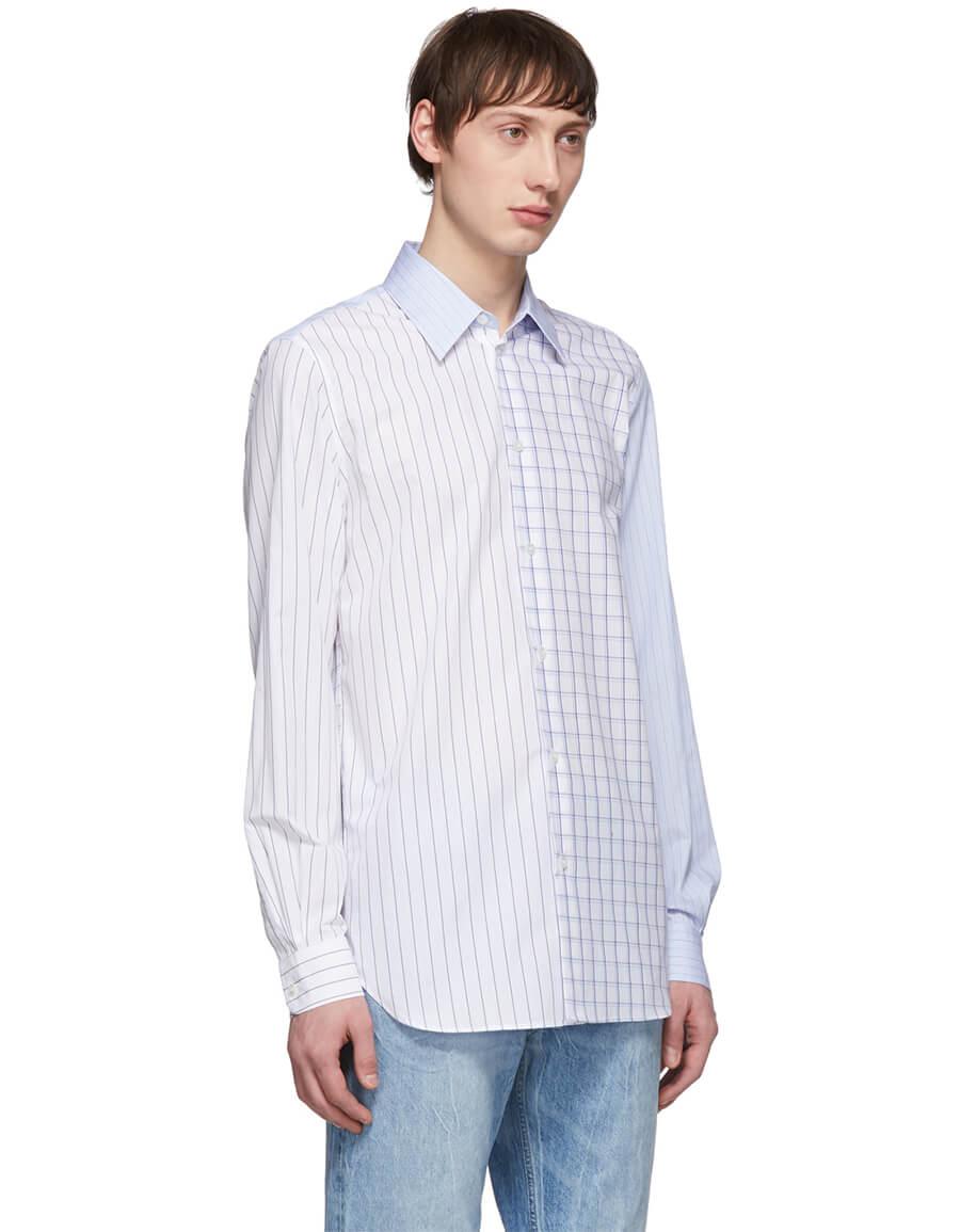 STELLA MCCARTNEY Blue Mix Check Shirt