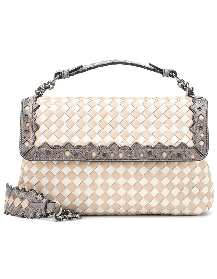 BOTTEGA VENETA Olimpia Checker leather shoulder bag