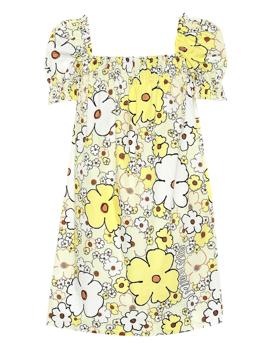 MIU MIU Printed cotton minidress