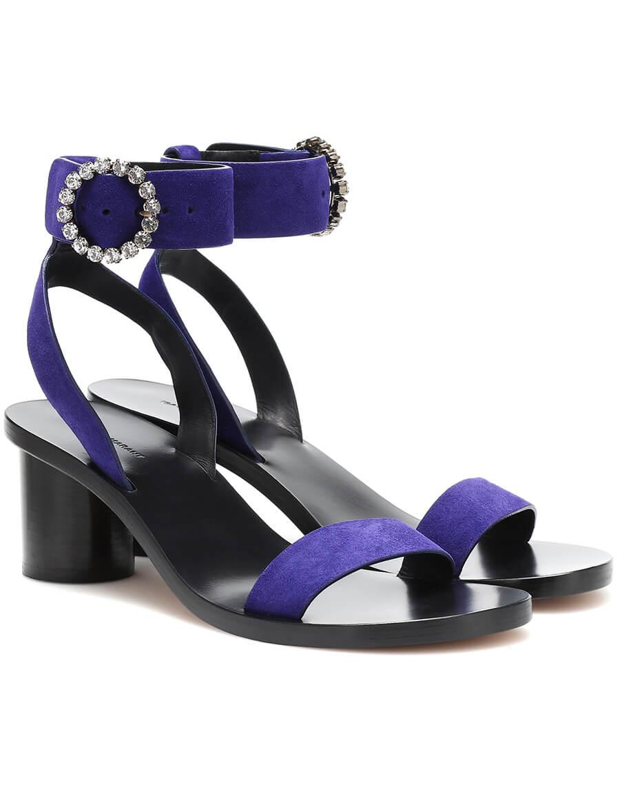 ISABEL MARANT Jaykee embellished suede sandals