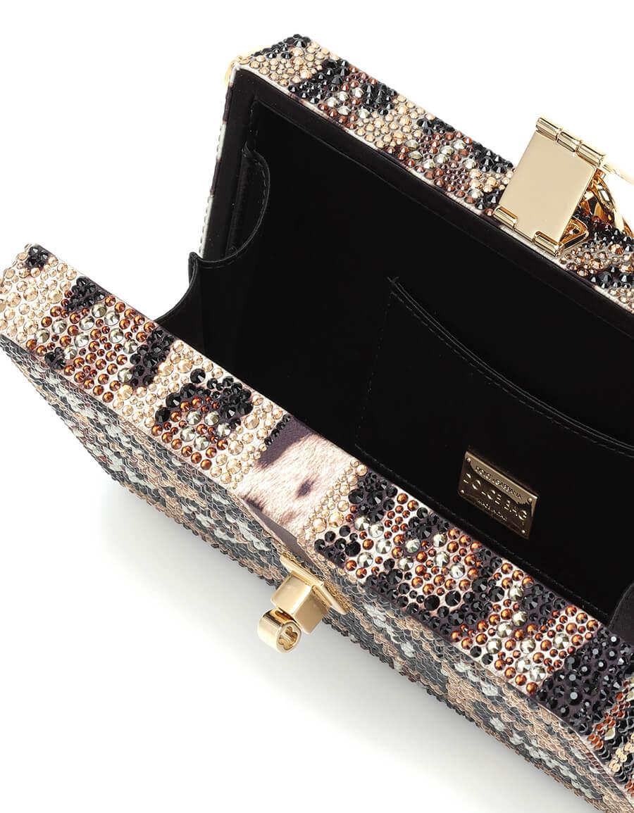 DOLCE & GABBANA Dolce Box embellished clutch