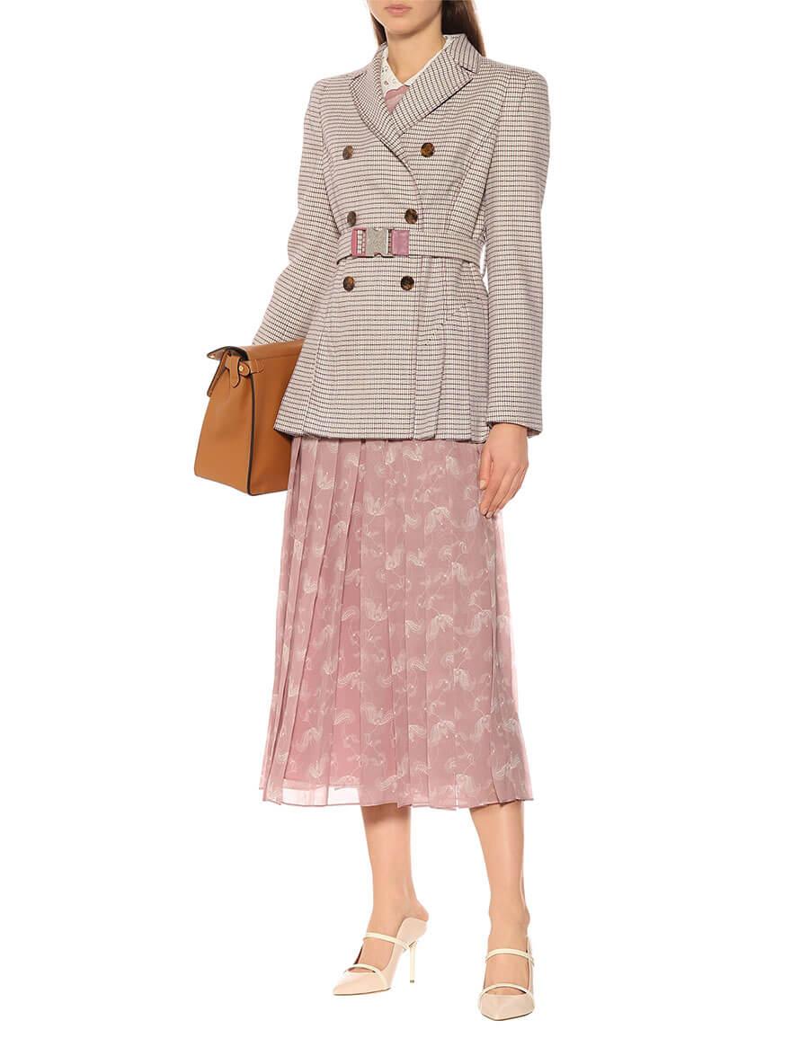 FENDI Checked wool blend blazer