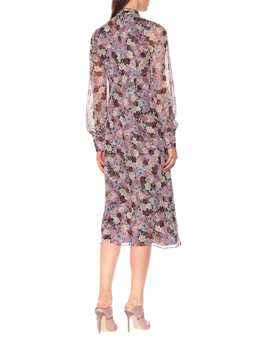 ERDEM Danielle floral printed silk dress