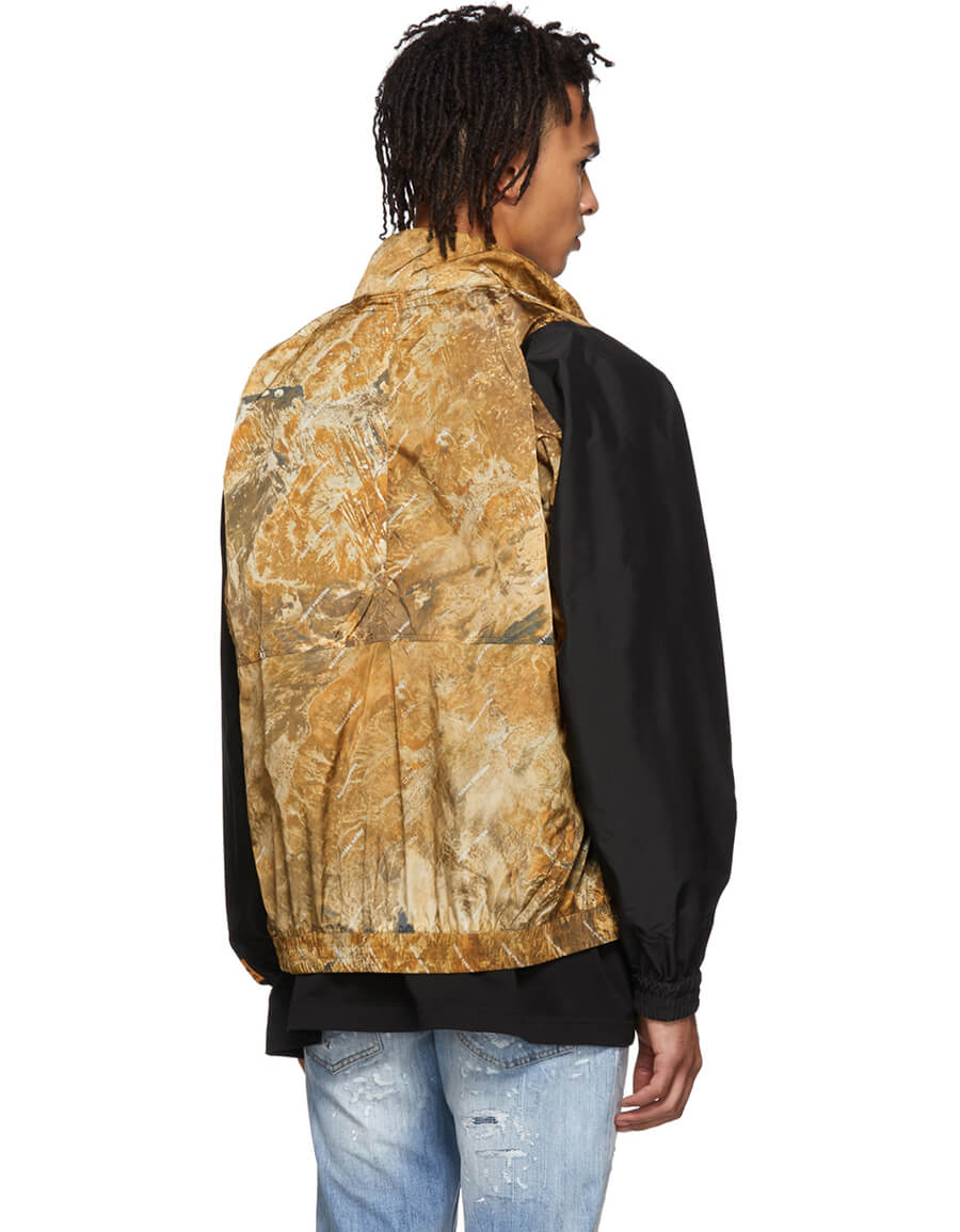 HERON PRESTON Brown Camouflage Track Jacket