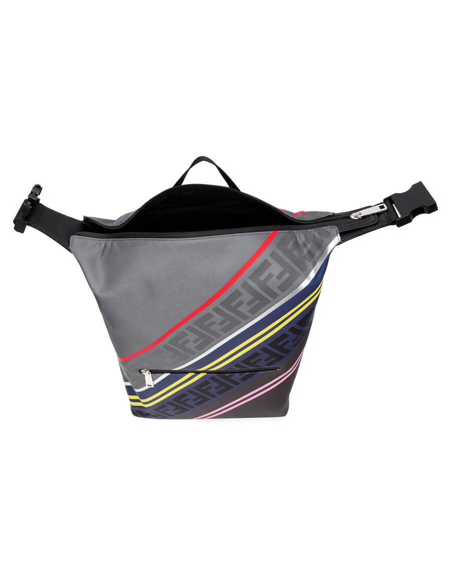 FENDI Grey & Multicolor 'Forever Fendi' Backpack