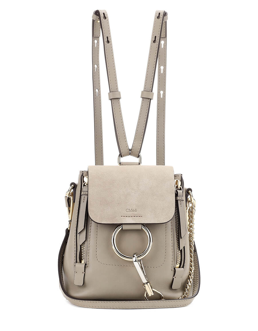 96298d180480 CHLOÉ Faye Mini leather and suede backpack · VERGLE