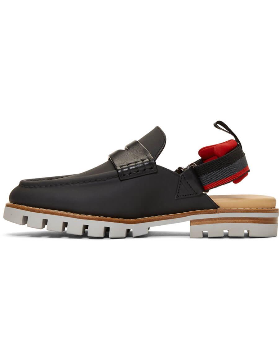FENDI Black Slingback Loafers