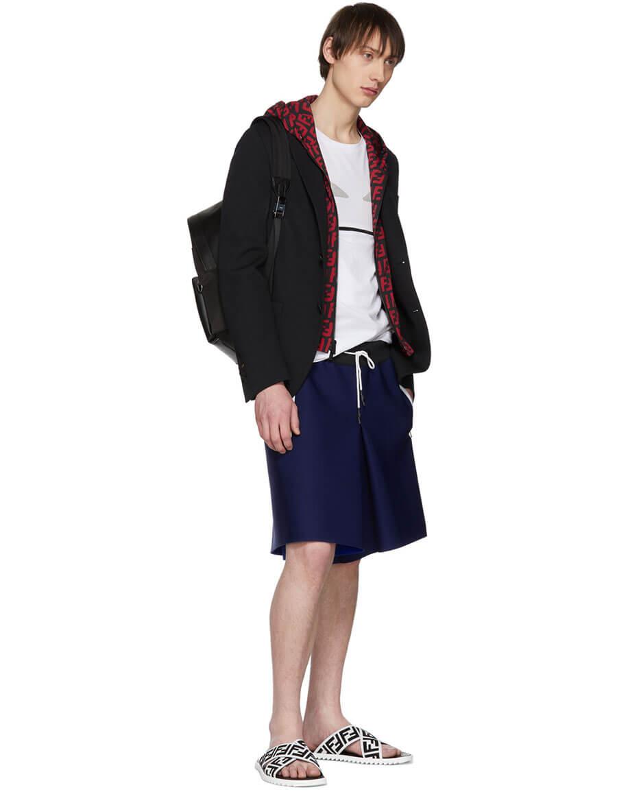 FENDI Black & Red 'Bag Bugs' Backpack