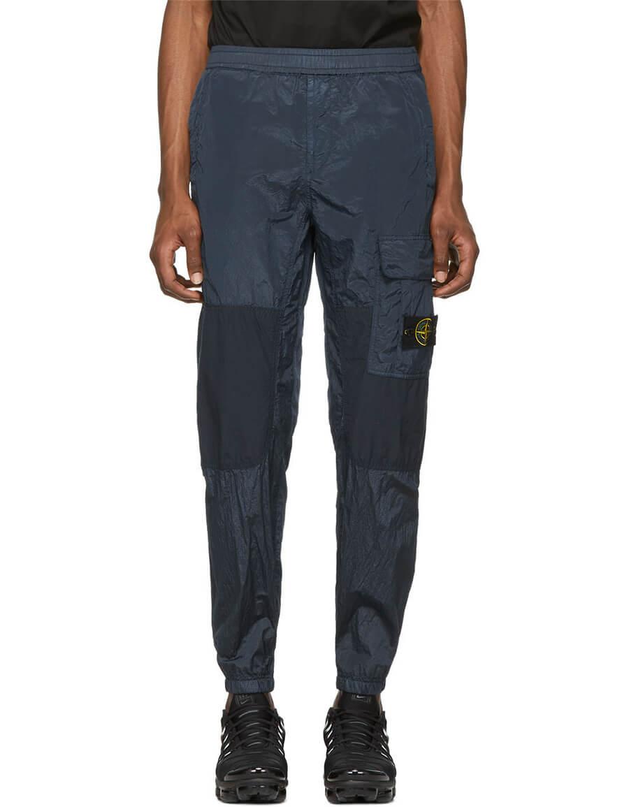 STONE ISLAND Navy Patch Cargo Pants