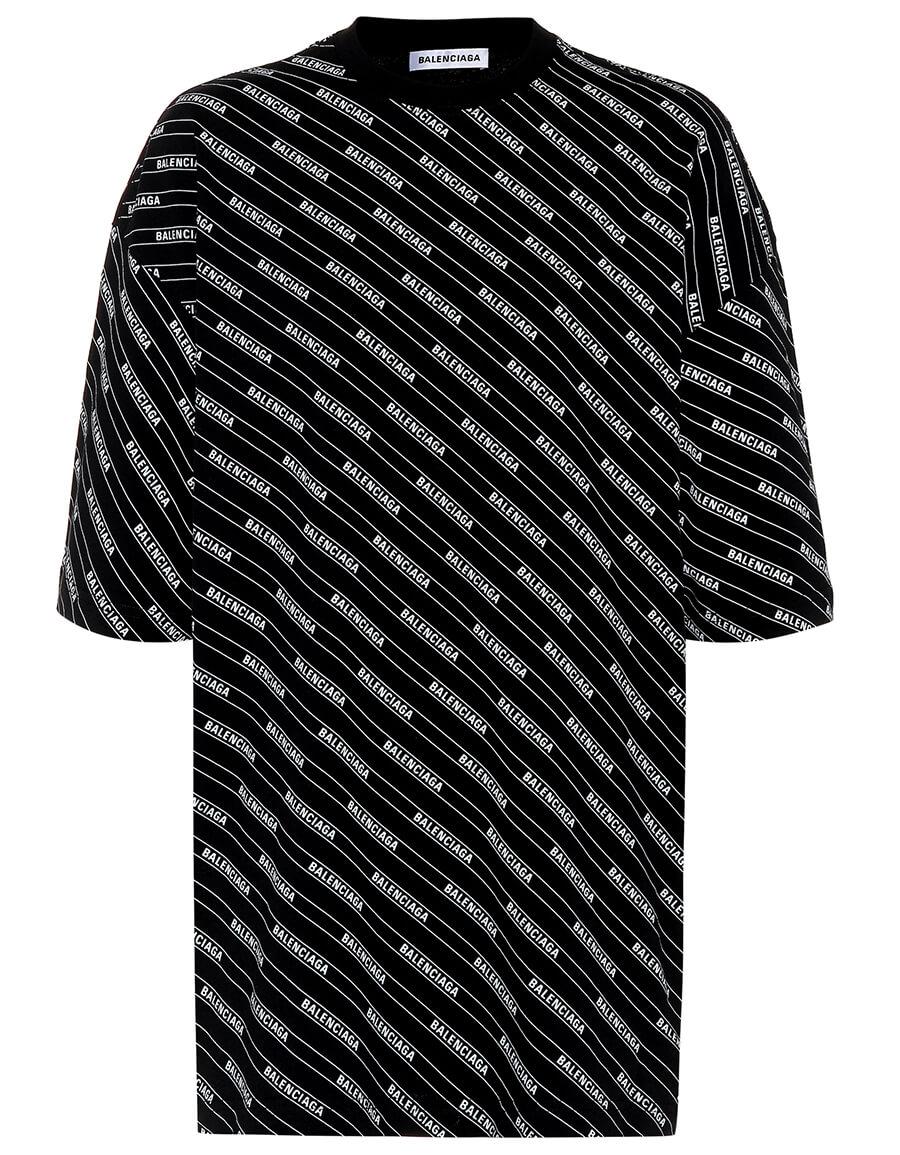 BALENCIAGA Allover Logo cotton jersey T shirt