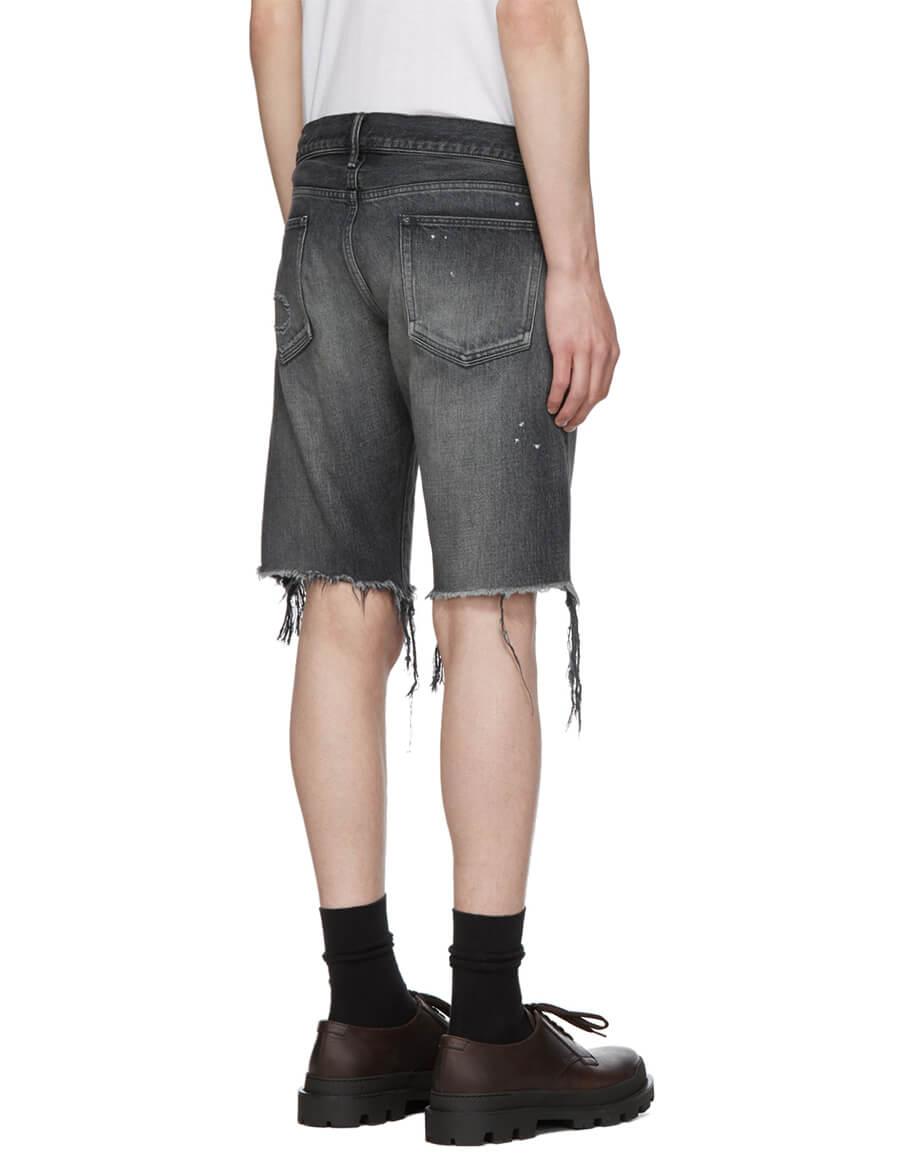 JOHN ELLIOTT Black Denim 'The Cast 2' Shorts