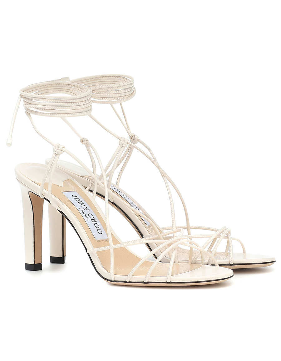 JIMMY CHOO Tao 85 leather sandals