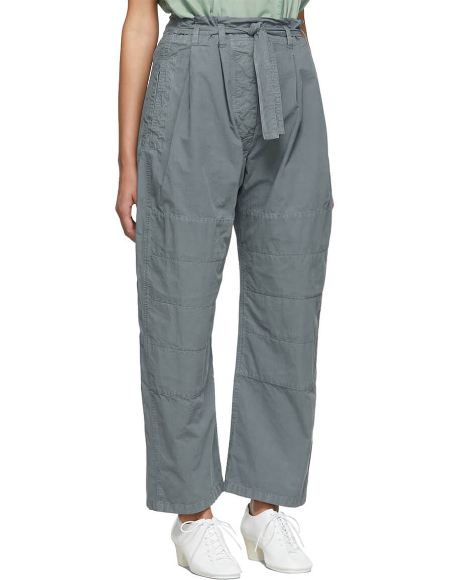 LEMAIRE Grey Martial Trousers