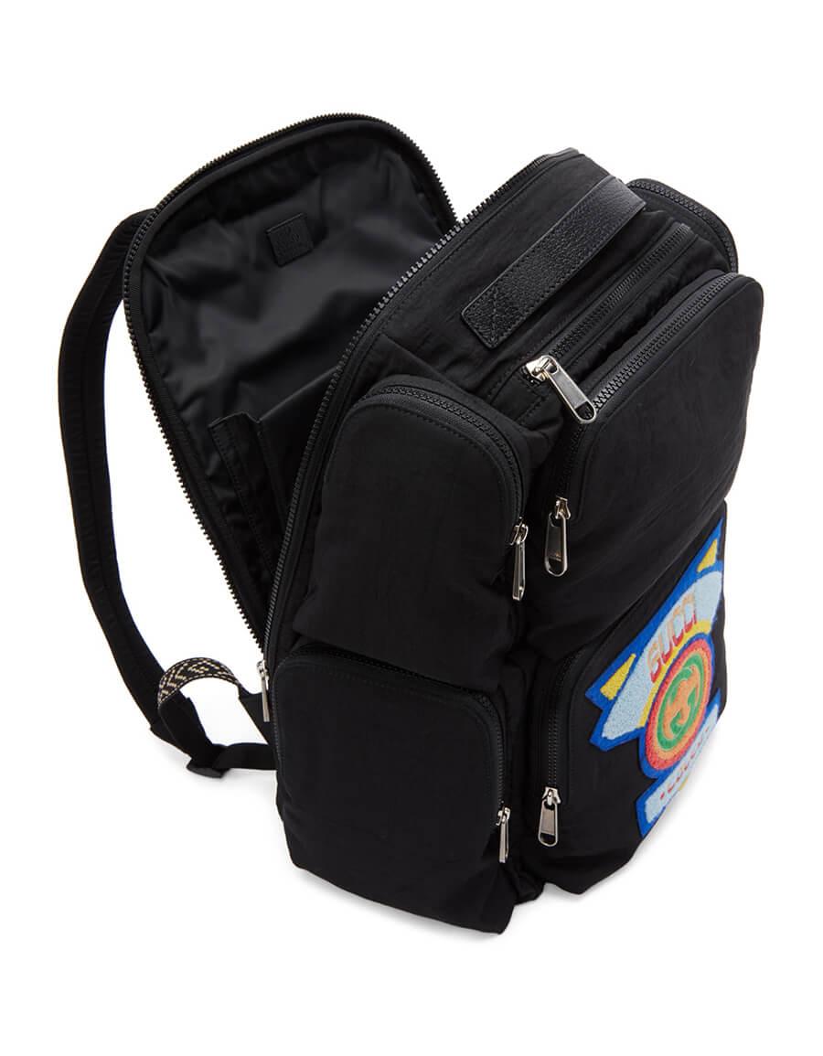 GUCCI Black Multi Pocket Backpack