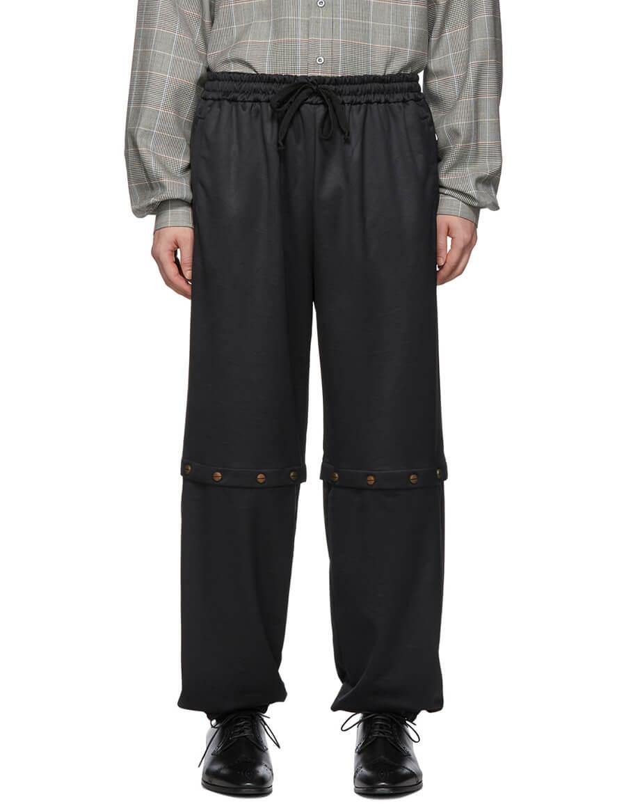 GUCCI Black Convertible Snap Track Pants