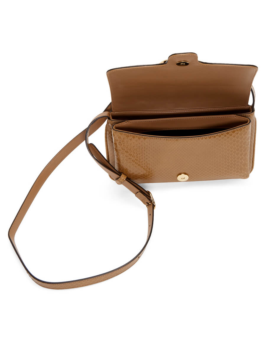 GUCCI Taupe Snake Small Arli Shoulder Bag