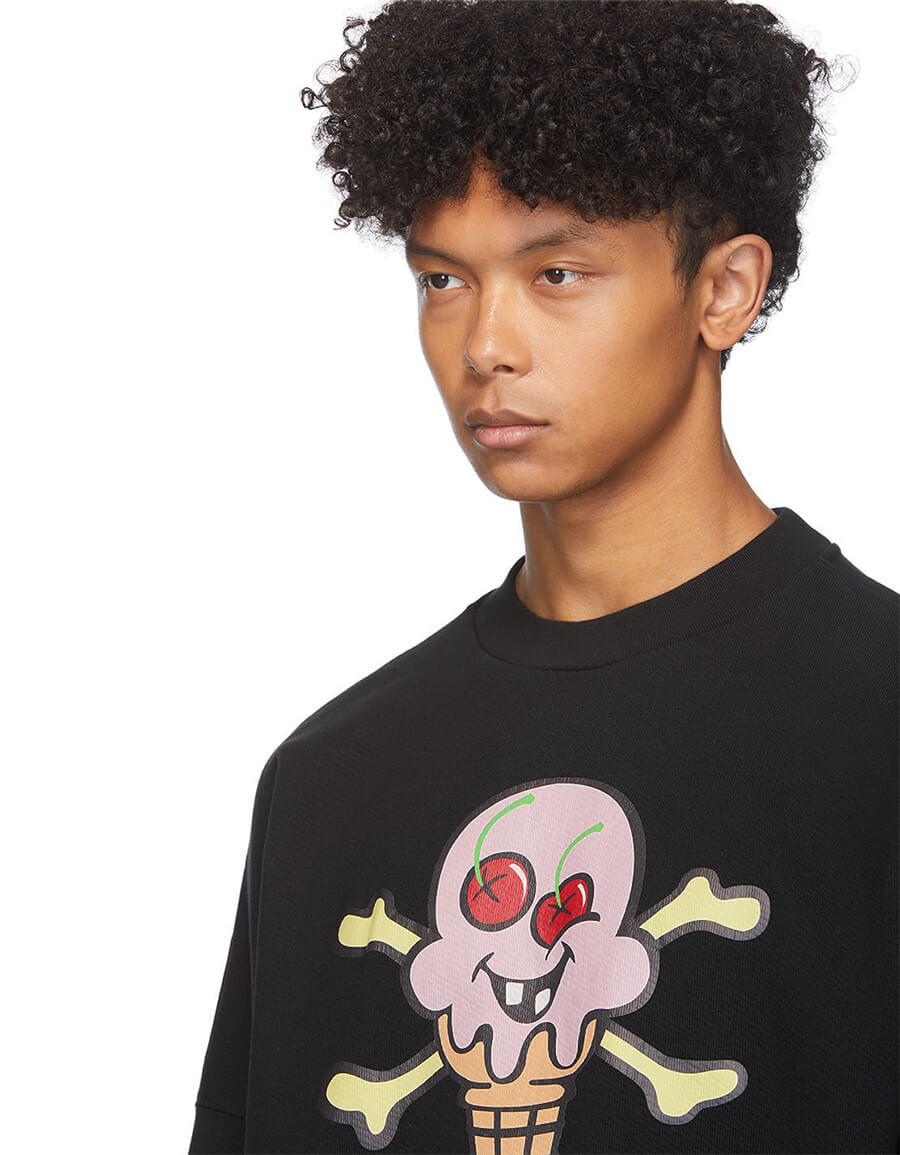 PALM ANGELS Black ICECREAM Edition Sweatshirt