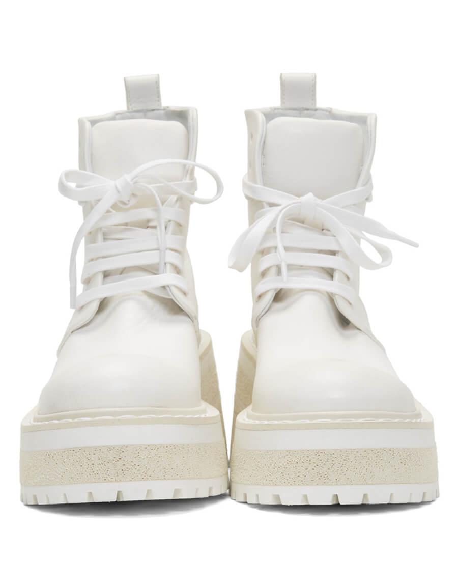 MARSÈLL White Carreta Anfibio Boots