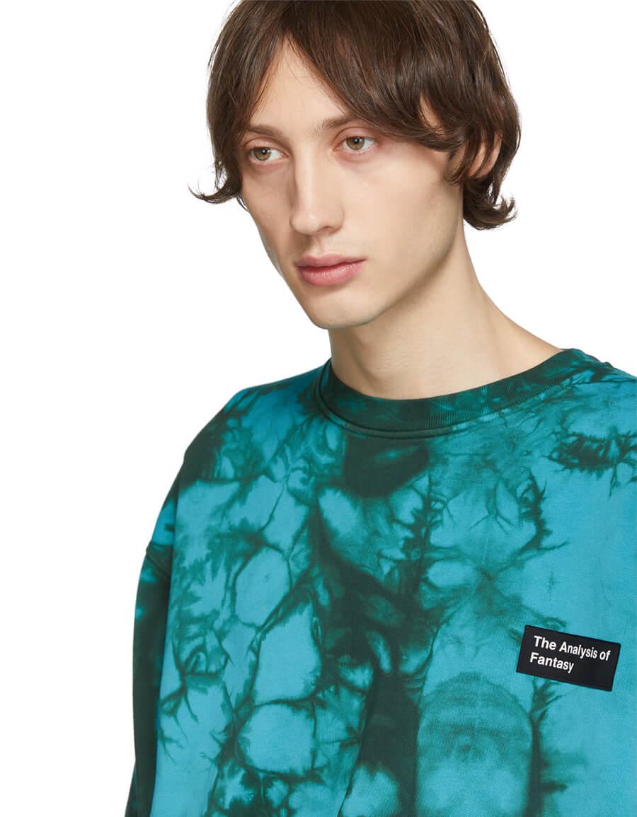 ACNE STUDIOS Blue Tie Dye Anatomy Patch Sweatshirt