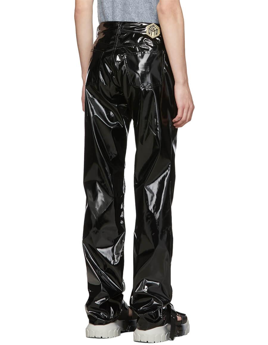 OTTOLINGER Black Pleather Trousers