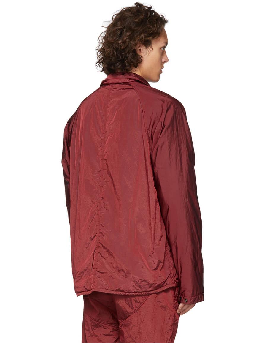 STONE ISLAND SSENSE Exclusive Red Zip Up Overshirt