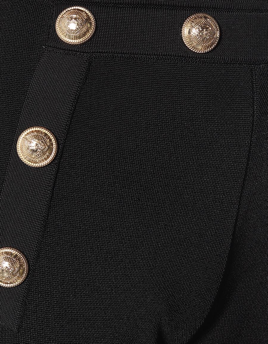 BALMAIN High rise flared knit pants