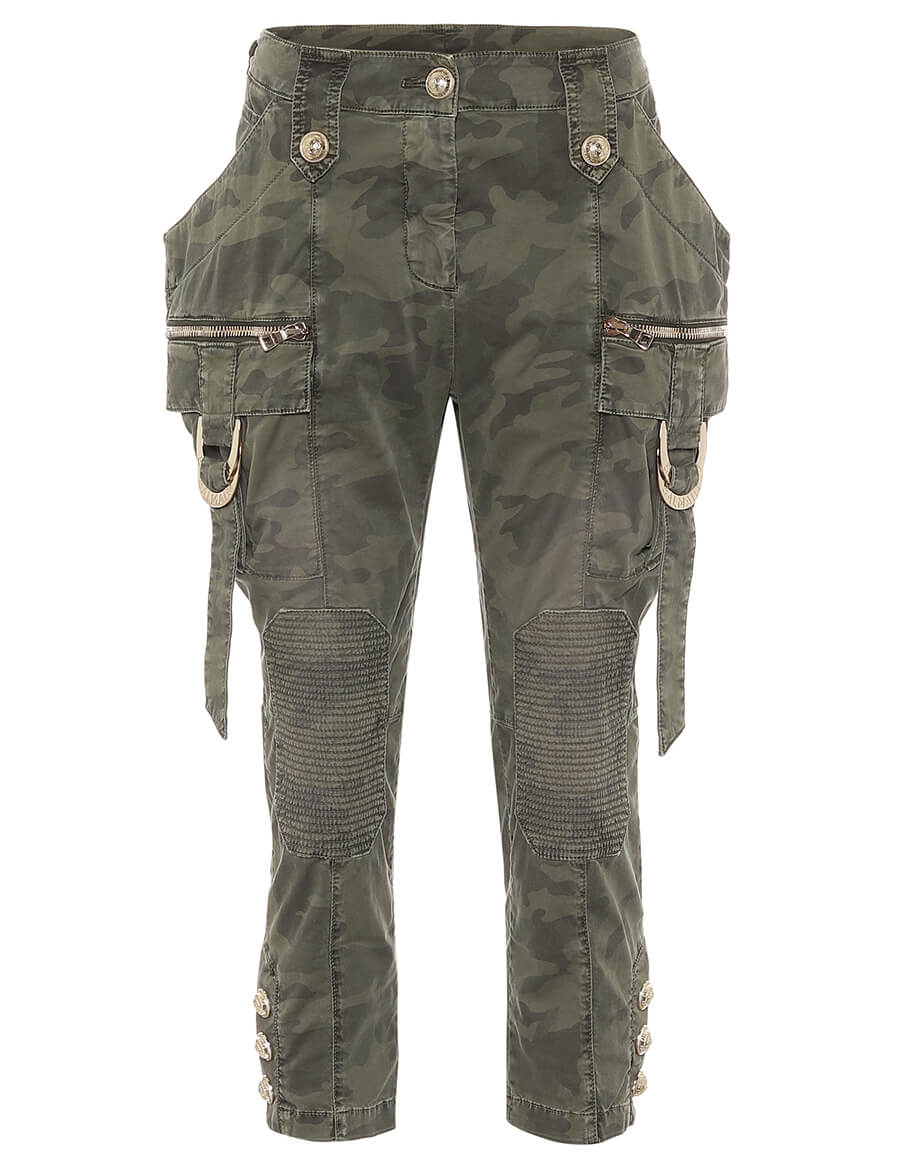 BALMAIN Camouflage mid rise skinny jeans
