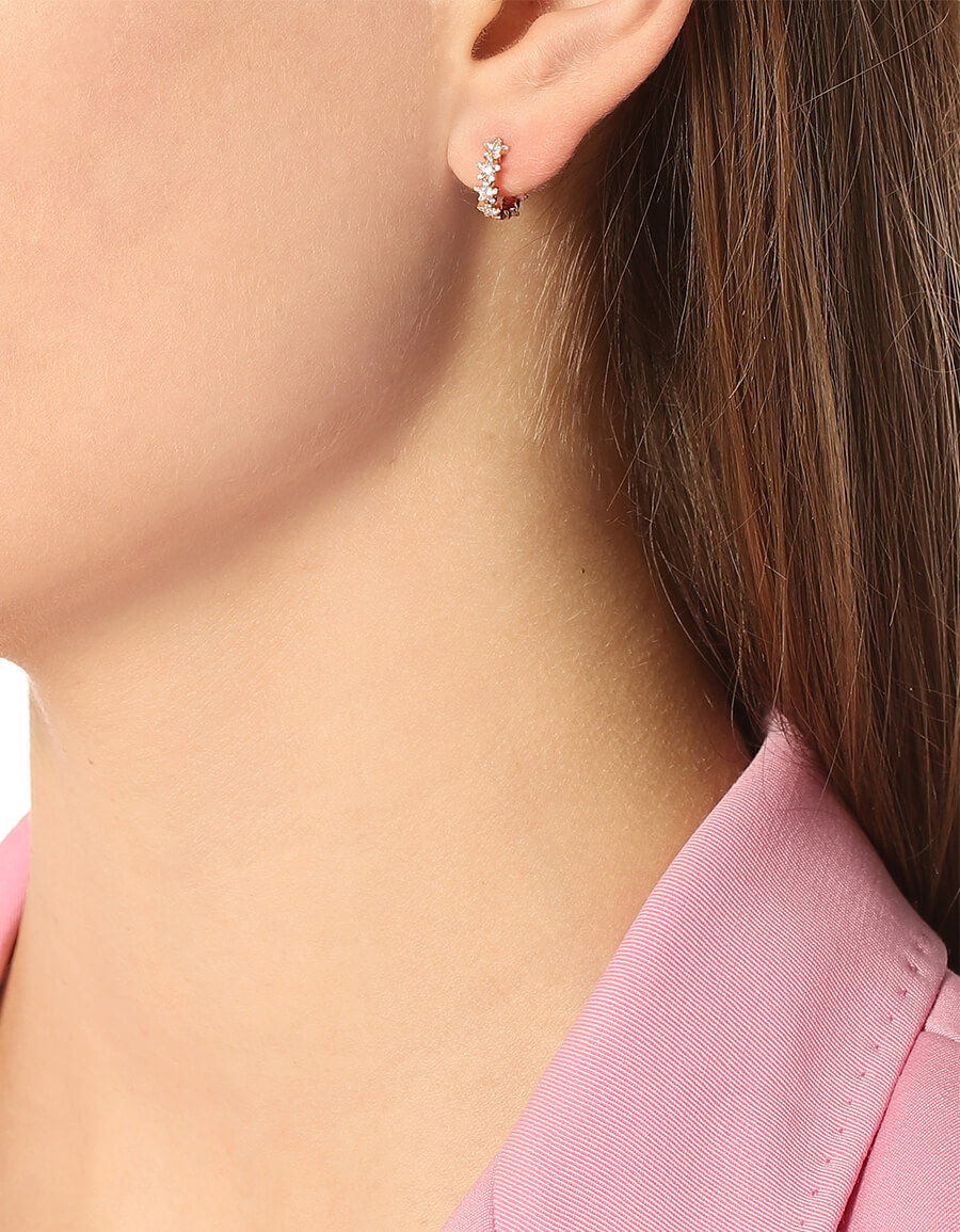 MARIA TASH 8mm Diamond Constellation Eternity Ring 18kt rose gold and diamond earring
