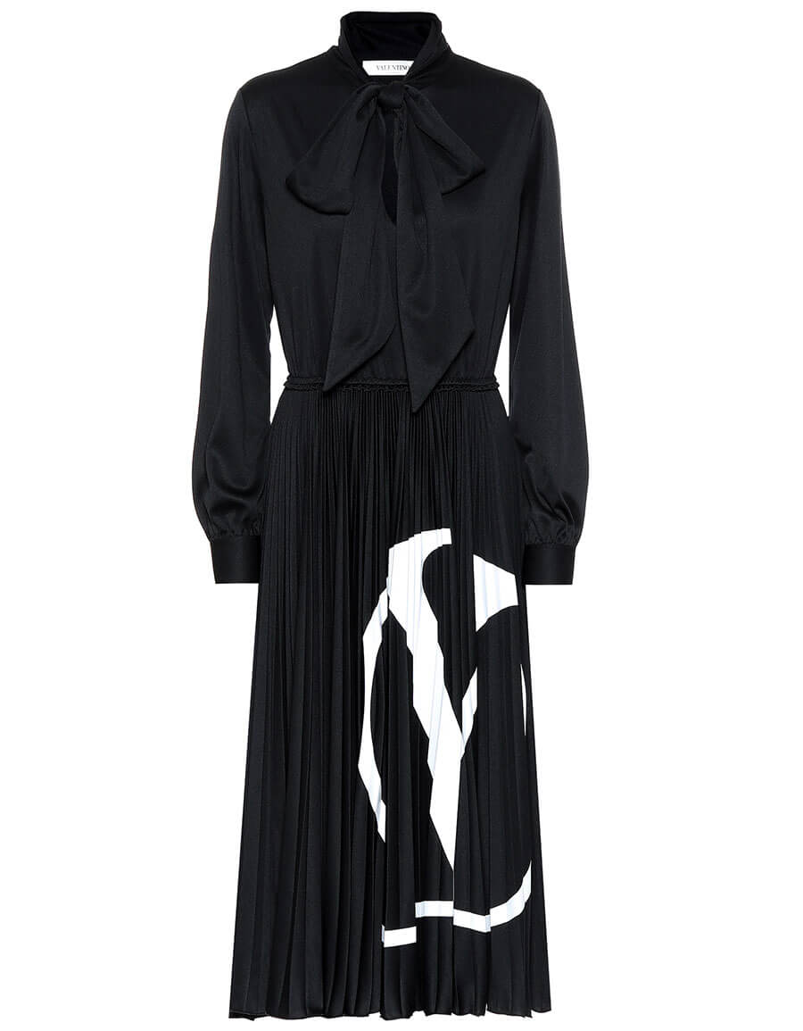 VALENTINO VLOGO jersey midi dress