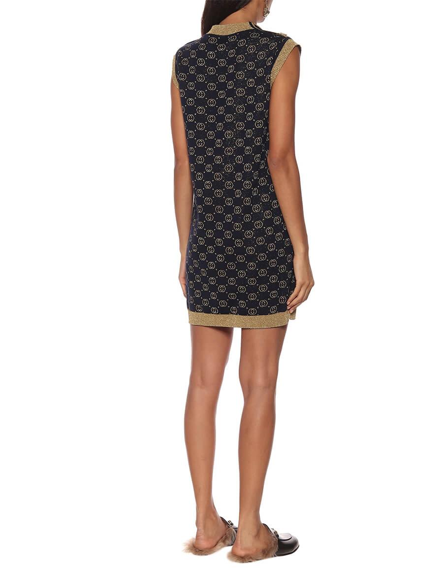 GUCCI GG wool blend jacquard dress