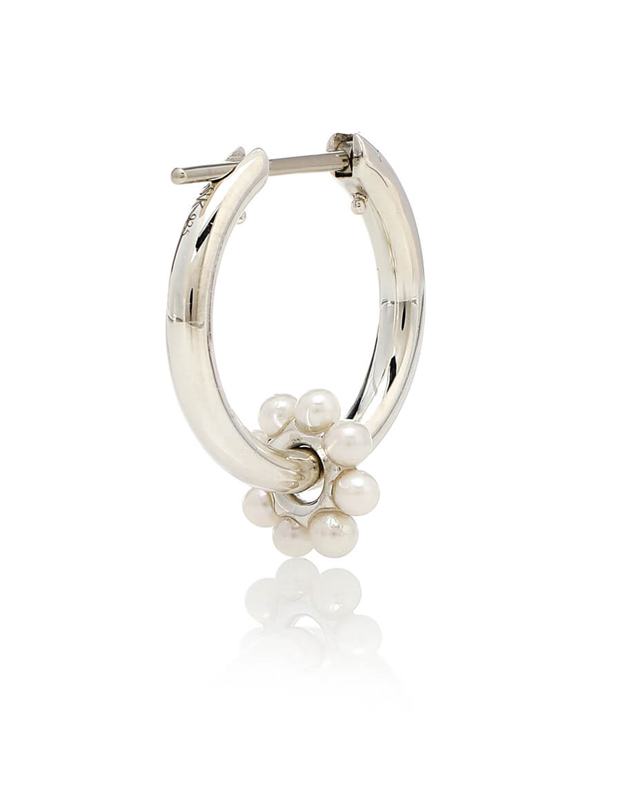 SPINELLI KILCOLLIN Akoya Ara Bloom sterling silver earrings with pearls