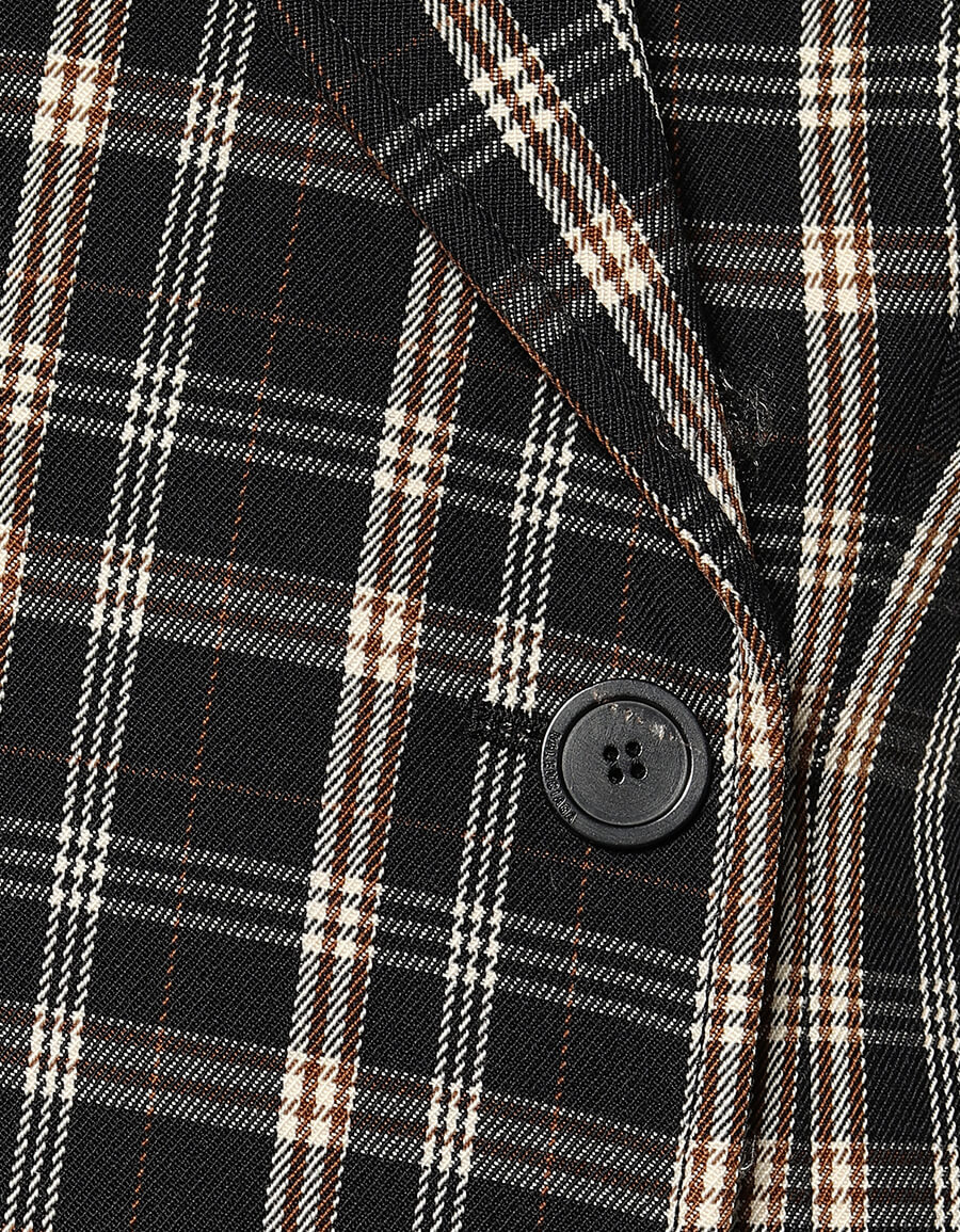 BALENCIAGA Hourglass checked wool blazer