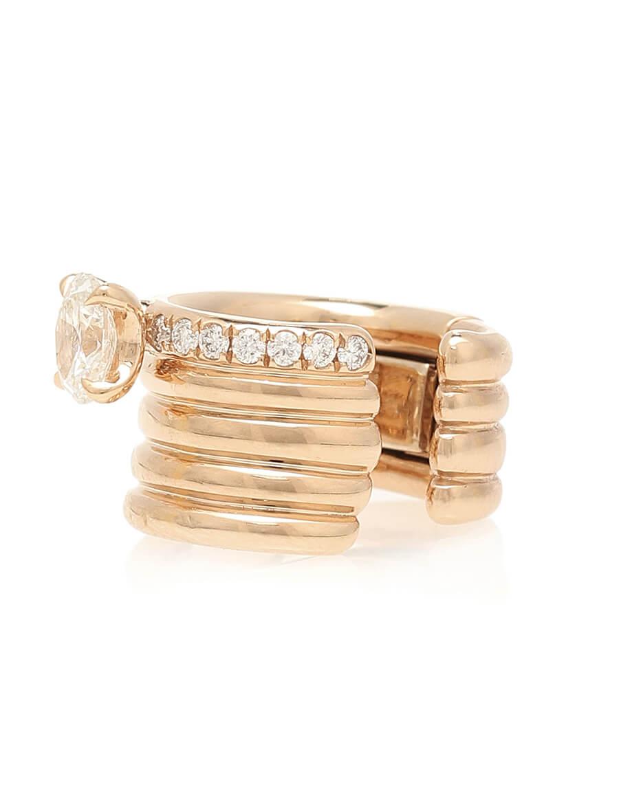 REPOSSI Blast 18kt rose gold ear cuff with diamonds