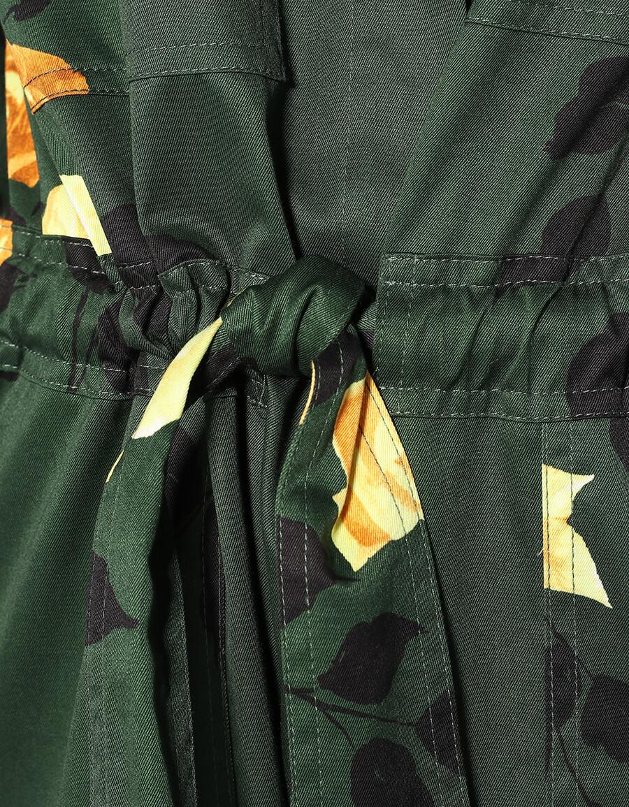 MSGM Floral cotton jumpsuit