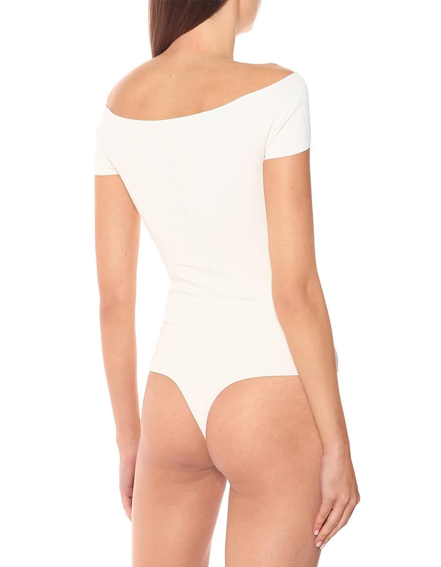 KHAITE Talie cutout off shoulder bodysuit